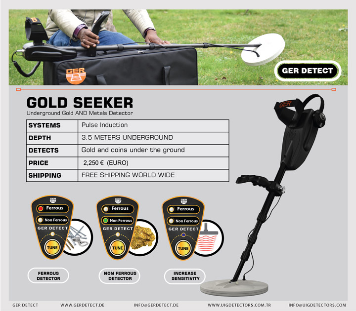 Brochure for GOLD SEEKER device